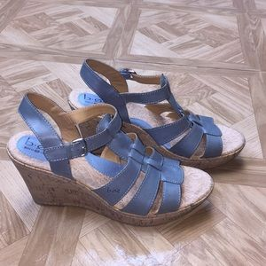 Born Concept Leather Wedge Casual Sandals